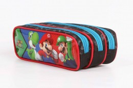 Estojo Escolar Triplo DMW Super Marios Bros 11534