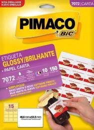 Etiqueta Brilhante Pimaco 7072 - 46,6 mm x 63,5 mm