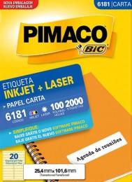 Etiqueta Inkjet/Laser Pimaco 6181 - 25,4 mm x 101,6 mm