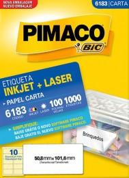 Etiqueta Inkjet/Laser Pimaco 6183 - 50,8 mm x 101,6 mm
