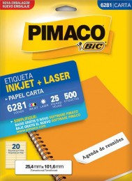 Etiqueta Inkjet/Laser Pimaco 6281 - 25,4 mm x 101,6 mm