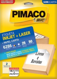 Etiqueta Inkjet/Laser Pimaco 6286 - 138,1 mm x 212,7 mm