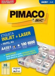 Etiqueta Inkjet/Laser Pimaco A4351 - 21,2 mm x 38,2 mm