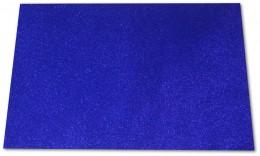 EVA com glitter 40x60 Azul pacote com 5 folhas