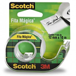 Fita Mágica 3M Scotch Com Dispensador - 12 mm x 10 m