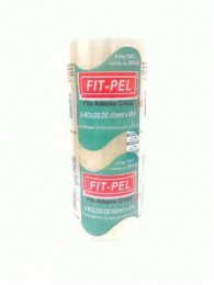 Fita PVC Cristal Fit-Pel - 45 mm x 45 m - PACK COM 5 UN.