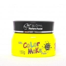 Gel Fluor Color Make 150g - Amarelo