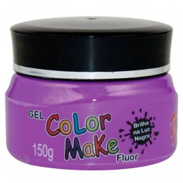 Gel Fluor Color Make 150g - Roxo