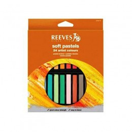 Giz Pastel Seco Reeves 24 Cores 8790175