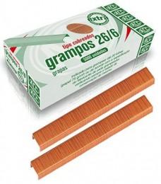 Grampos ACC 26/6 tipo cobreados com 5000 unidades
