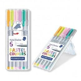 Kit Caneta Fineliner Staedtler Pastel 0.3mm