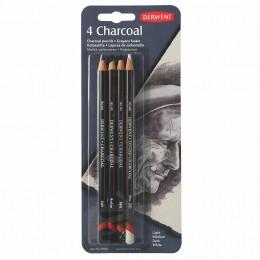Kit Lápis Carvão Derwent com 4 Lápis - Charcoal