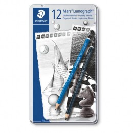 Kit STAEDTLER Mars® Lumograph Com 12 Lápis - 100 G12 S1