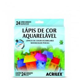 Lápis de Cor Acrilex 24 Cores Aquarelável - Ref. 09654