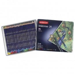 Lápis de cor Aquarelável Derwent Inktense 24 Cores