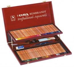 Lapis de cor Lyra Rembrandt Aquarell estojo c/100 cores