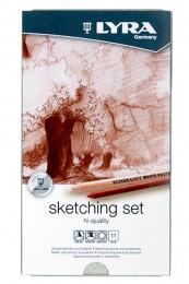Lapis de cor Lyra Rembrandt Sketching set 11 peças