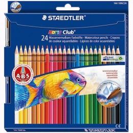 Lápis de Cor Staedtler Noris Club 24 Cores Aquarelável 144 10NC24