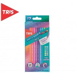Lápis de Cor Tris Mega Soft Tons Pastel - 12 cores
