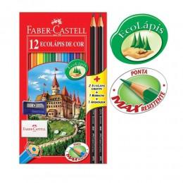 Lapis Faber-Castell Sextavado 12 EcoLápis de Cor 120112+2N