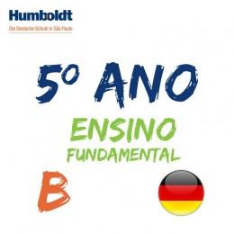 Lista do Quinto Ano Ensino Fundamental B Alemão / 5. Schuljahr B