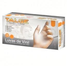 Luvas de Vinil P Talge com pó 100 unds.