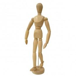 Manequim Articulado 30 cm Masculino Em Madeira Sinoart