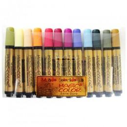 Marcador Magic-Color Série Ouro 12 Cores Sortidas 642-O