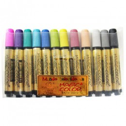 Marcador Magic-Color Série Ouro 12 Cores Sortidas 643-O