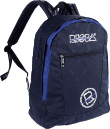 Mochila Risca Emborrachada Preto/Azul 9003