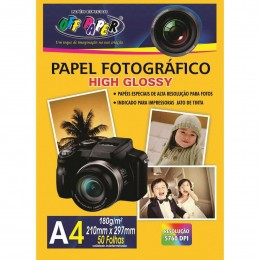 Papel Fotográfico Off Paper High Glossy A4 - 50 folhas