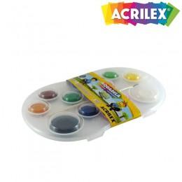 Pastilha Aquarela Acrilex 12 Cores Ref. 01812