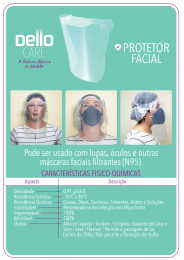 Protetor Facial Total Dello face Shield c/25 unds.