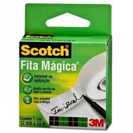 Rolo de Fita Mágica 3M Scotch - 12 mm x 33 m