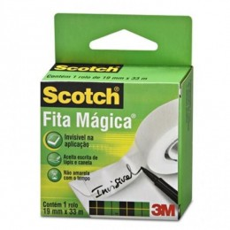 Rolo de Fita Mágica 3M Scotch - 19 mm x 33 m