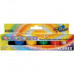 Tinta Acrílica Fosca Acrilex 6 Cores Ref. 03506