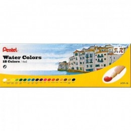 Tinta Aquarela Pentel 18 cores Water colors HTP-18