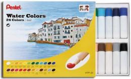 Tinta Aquarela Pentel 24 cores Water colors HTP-24