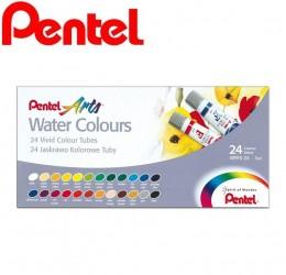 Tinta Aquarela Pentel 24 Cores WFRS-24