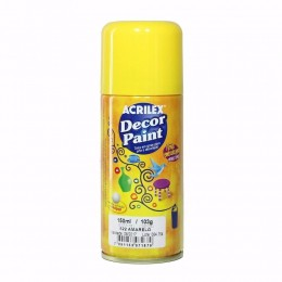 Tinta em Spray Decor Acrilex 150 ml  - Amarelo