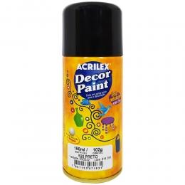 Tinta em Spray Decor Acrilex 150 ml  - Preto