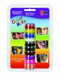 Tinta Facial Color Make Yur c/ 10 cores