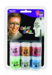 Tinta Facial Color Make Yur Metálica c/ 6 cores