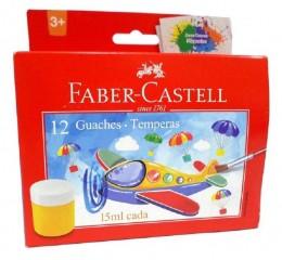 Tinta Guache Faber-Castell 12 Cores 161112