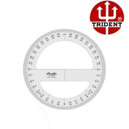 Transferidor de Acrílico Trident 360°/12 cm 8312
