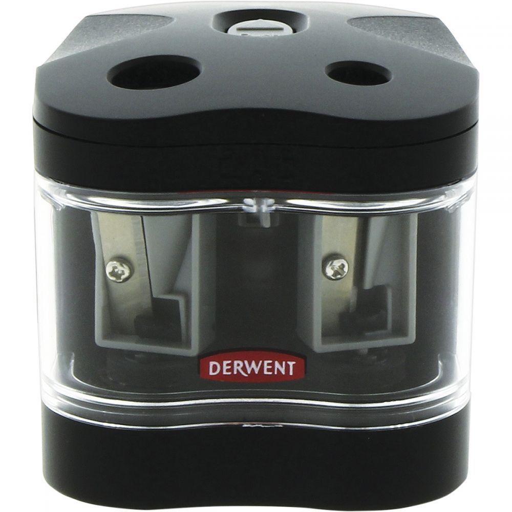 Apontador elétrico Derwent com 2 bocas