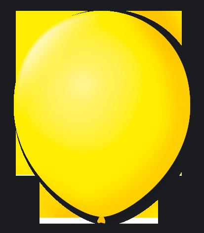 Balão São Roque Nº9 C/ 50  - Amarelo Citrino