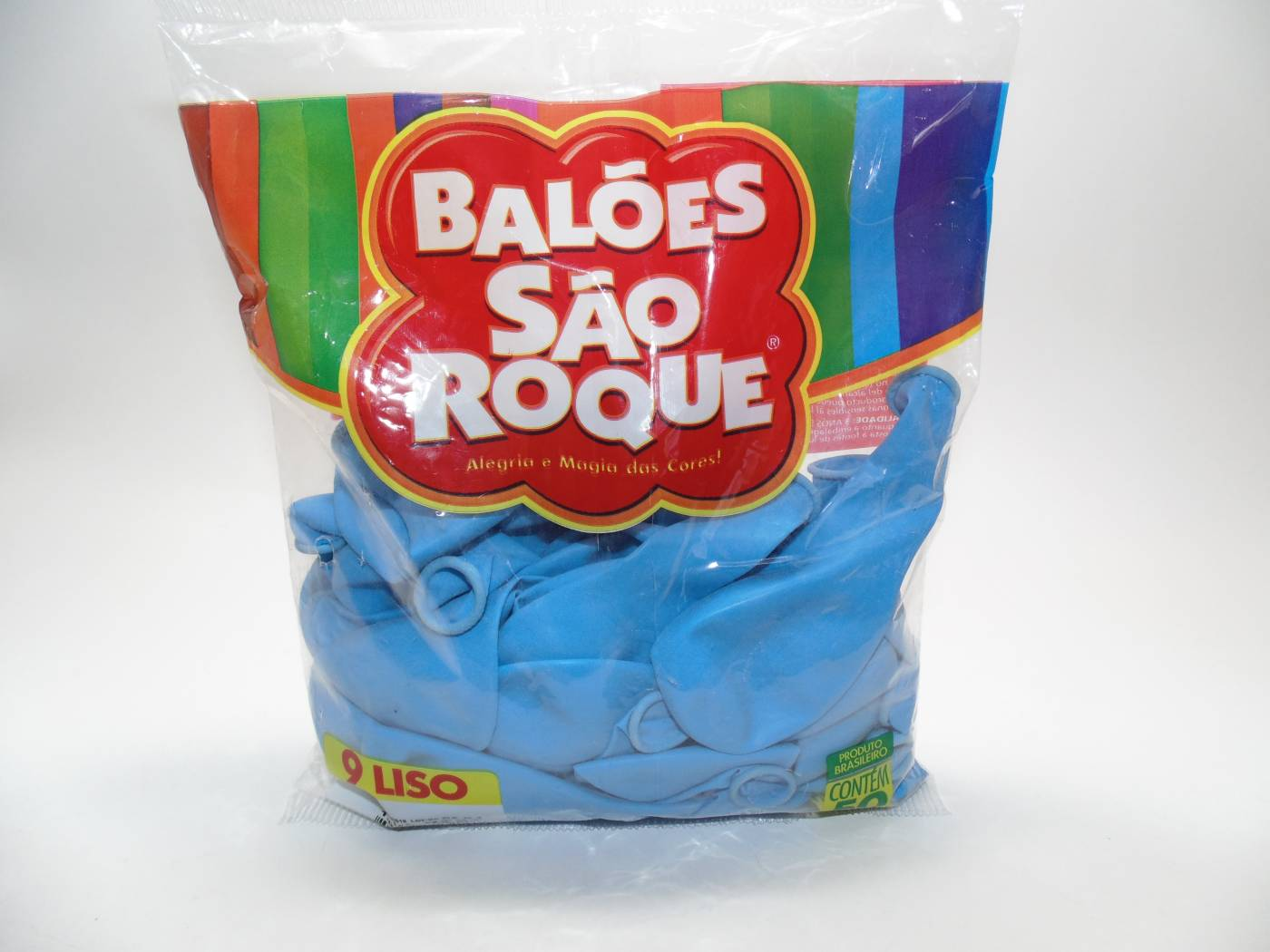 Balão São Roque Nº9 C/ 50  - Azul Baby
