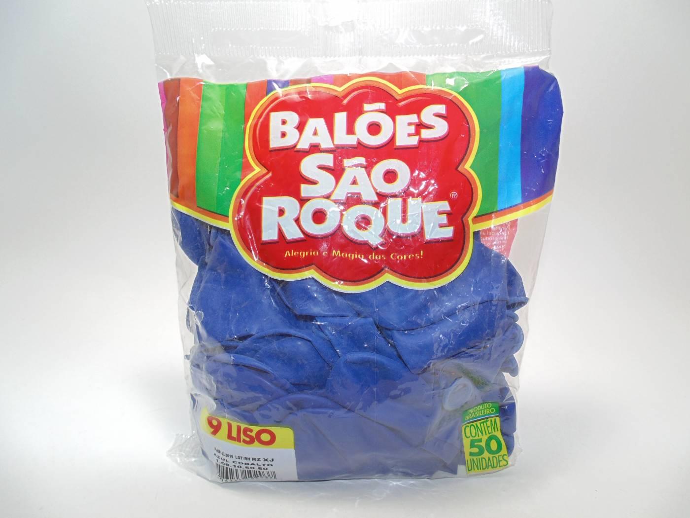 Balão São Roque Nº9 C/ 50  - Azul Cobalto