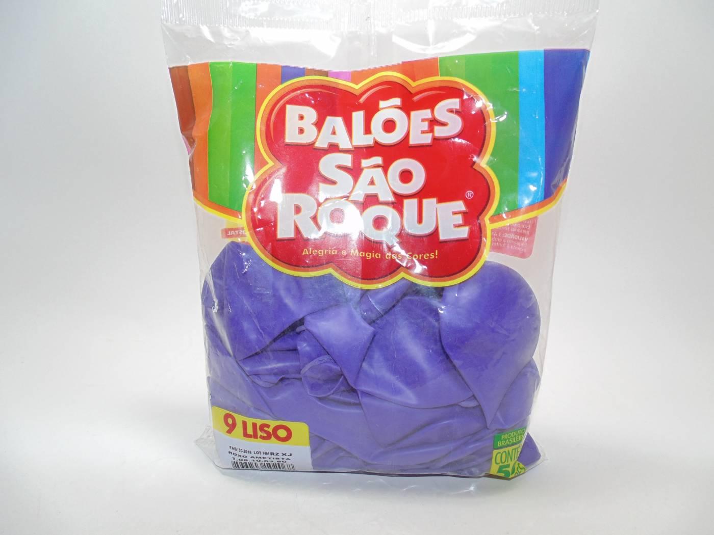 Balão São Roque Nº9 C/ 50  - Roxo Ametista
